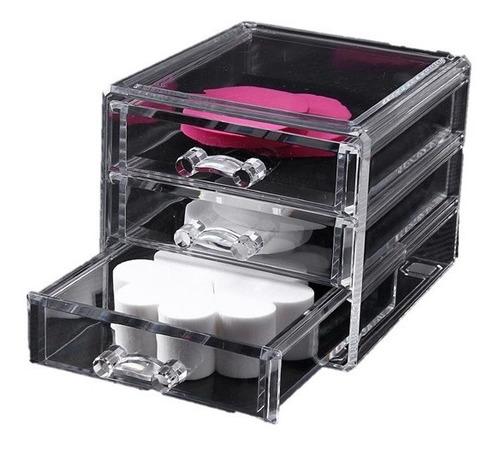 Caja Organizadora Transparente Para Plumones O Cosmeticos