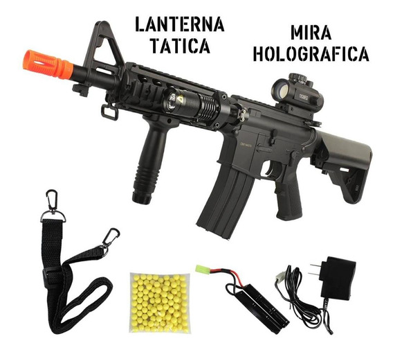 Airsoft Aeg M4 Cqb Tactical Rifle Fuzil Elétrico Cm176 6mm