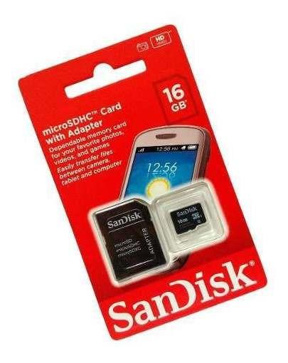 Cartão De Memória 16gb Micro Sd + Adaptador Black Friday
