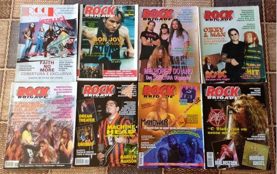 Revista Rock Brigade - 12 Reais Cada Ou 32 Por 320 Reais.