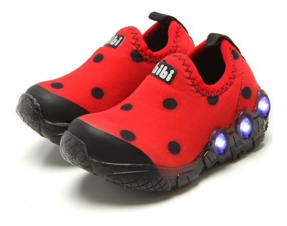 Tênis Bibi Ladybug Infantil Menina Luzinha 545178