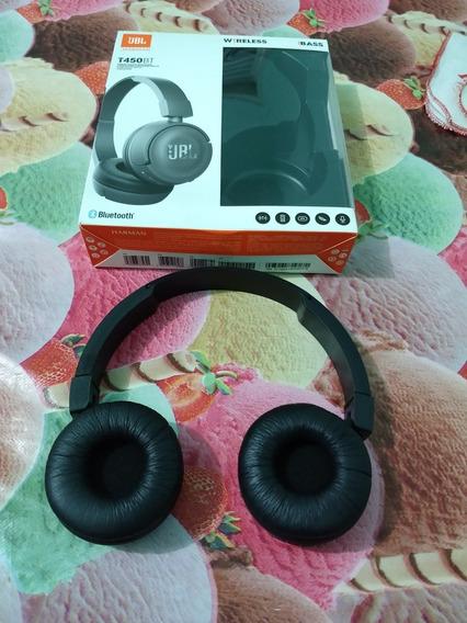 Fone De Ouvido Sem Fio Bluetooth Com Microfone Jbl T450bt Pr