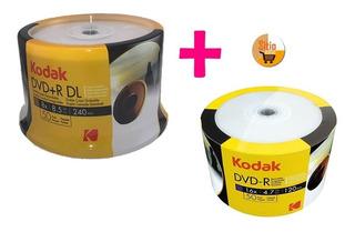 Dvd+r Doble Capa X50 Unid 8.5gb+ Torre De Dvd 4.7gb X50 Unid