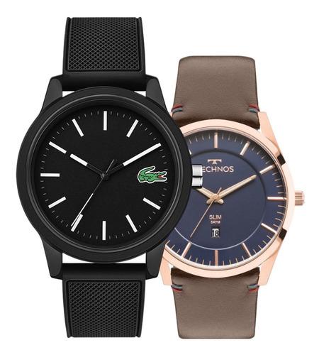 Kit Relógio Lacoste Masculino  + Relógio Technos Exclusivo
