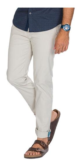 Pantalon Hombre Gabardina Strech Moda Chino Algodon Slim Fit