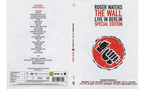 Roger Waters The Wall Live In Berlin Dvd Nuevo Original