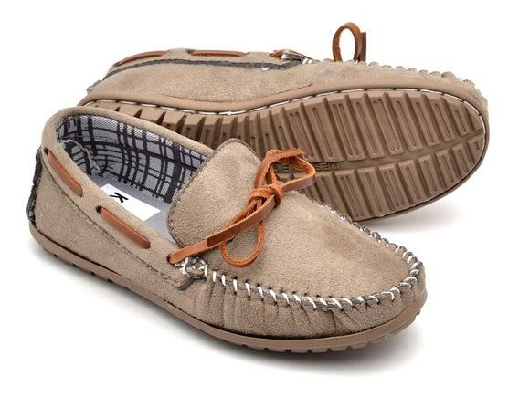 Sapato Mocassim Infantil Masculino Em Couro Casual 3 Modelos