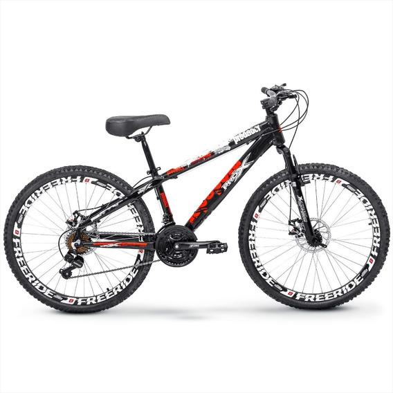 Bike Pro X Predador Freeride Aro 26 Freio Disco 21v