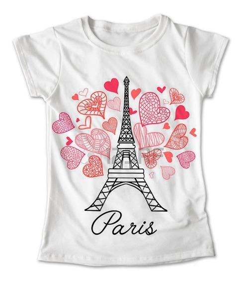 Blusa Francia Colores Playera Torre Paris Corazones 066