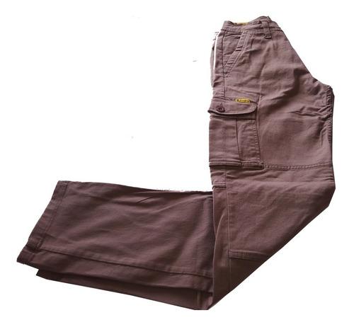 Imagen 1 de 10 de Pantalón Cargo Elastizado Marca Pampero