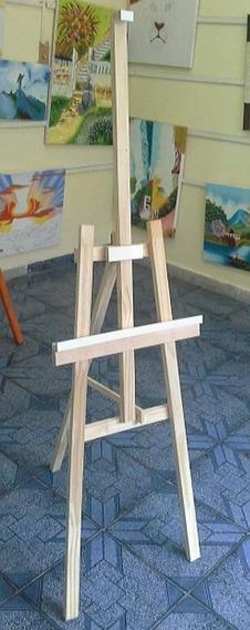 Cavalete Dobrável Para Pintura E Exposição De Quadros - Off