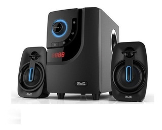 Teatro En Casa Para Pc Tv 40watts Bluetooth Radio Usb Negro
