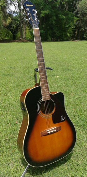 Guitarra Electroacustica Epiphon Aj220 Sce