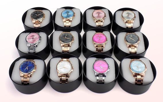 Kit Com 10 Relógio Feminino Orizom Original + Caixa Revenda