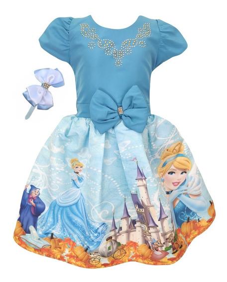 Vestido Cinderela + Tiara