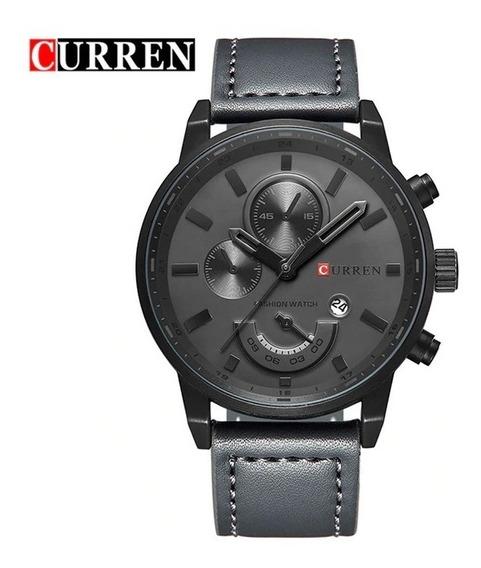 Relógio Curren Masculino Original Pulseira Couro Promoção!!