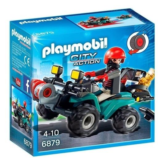 Playmobil City Action Ladrão Fugitivo Com Quadriciclo 6879