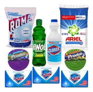 Set Basico De Limpieza Clorox Detergente Antibacterial Y Mas