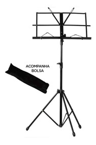 Suporte Partitura Pedestal Estante Bolsa Cavalete Ferro