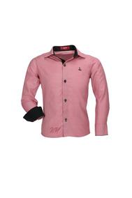 Camisa Infantil Alfa Tecido Misto Xadrez - Vermelho - 160
