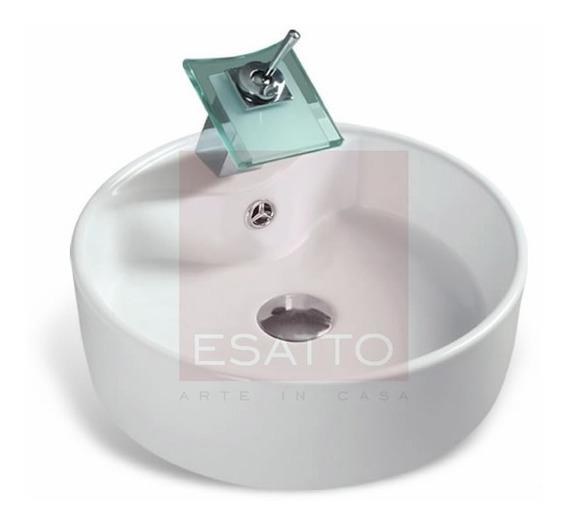 Esatto ® Econokit Glas Lavabo Bco-hueso Llave Valvula Cespol