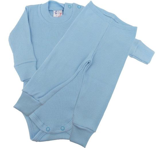 Roupa Bebê Menino Menina Unissex Body E Calça Longo Blu Baby