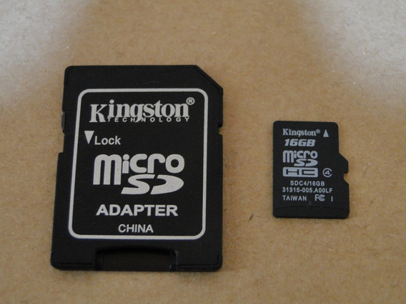 Memória Micro Sd Kingston 16gb+adaptador Kingston (original)