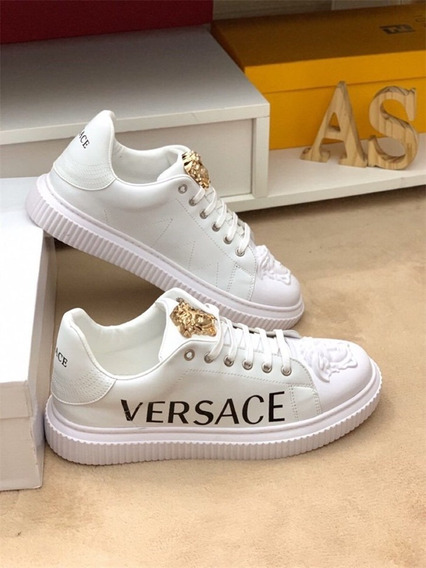Tenis Masculino Versace Luxury Brand - Branco