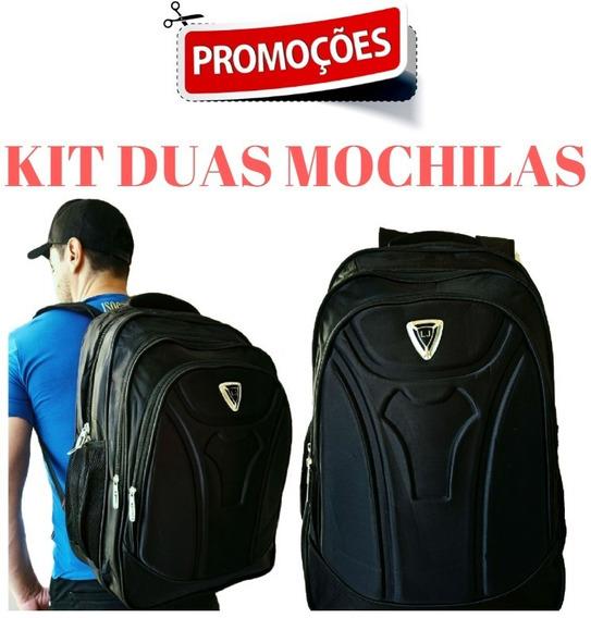 Kit 2 Mochilas Grande Impermeável Reforçada Porta Notebook
