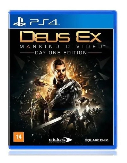 Jogo Game Deus Ex Mankind Divided Day One Edition Ps4 Físico