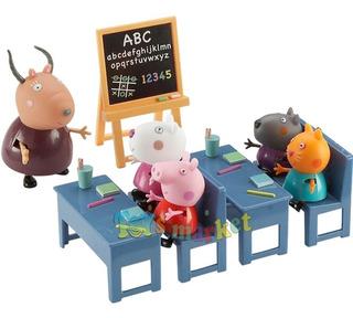 Peppa Pig Va A La Escuela Aula Clase Class Room Original
