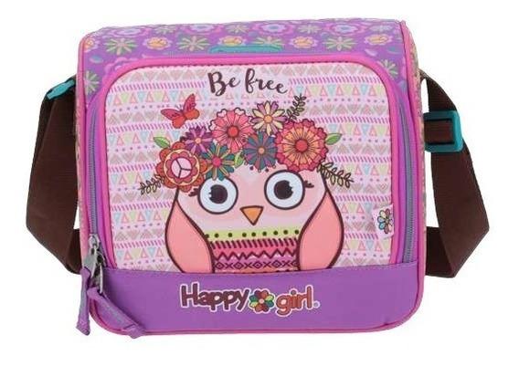 Lonchera 3d Termica Chenson Happy Girl Niña Escolar Primaria Kinder Full