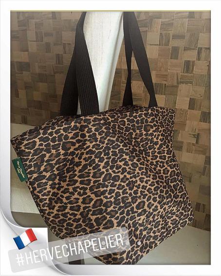 Hervé Chapelier /paris - Bolsa Tote Leopard - Lona