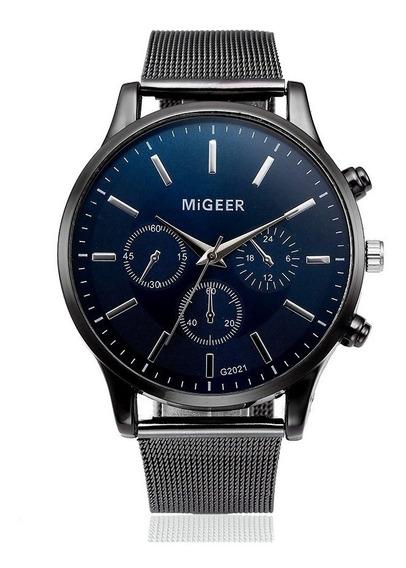 Reloj Original Migeer Correa De Malla Metálica