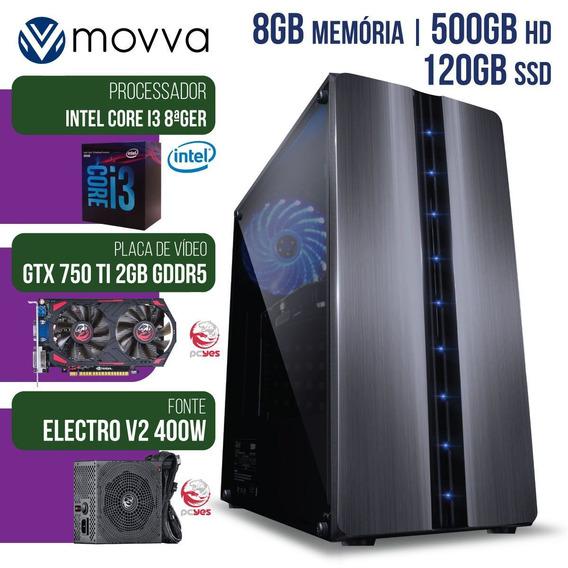 Computador Gamer Intel Core I3 3.6ghz 8ª Ger. Mem. 8gb 500gb
