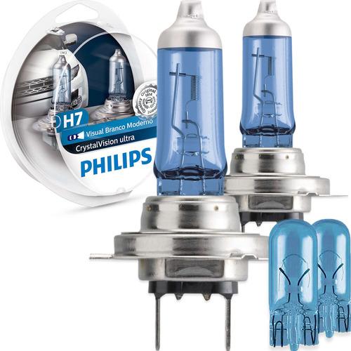 Imagem 1 de 6 de Kit Lâmpada Philips Crystal Vision Ultra H7 55w 12v 4300k
