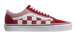 Tenis Vans Old Skool Mix Checker Chili Peppe Rojo 1vk5