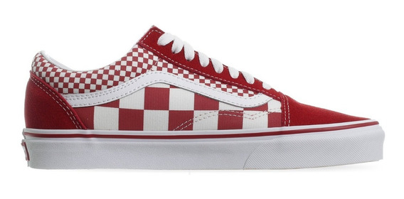 Tenis Vans Old Skool Mix Checker Chili Peppe Rojo 1vk5