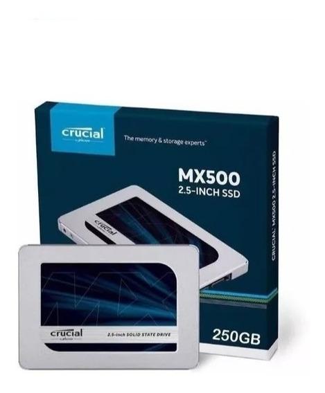 Hd Ssd Crucial Mx500 2.5 250gb - Original Lacrado