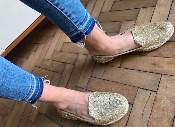 Zapato Dorado Marca Steve Madden Talle 37.5