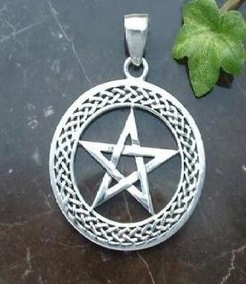 A T A C A D O ... 10 Unidades Frete Grátis !!! - Pingente Wiccan Pentagrama Elegance - Prata 925 - 3,8 Gramas Cada Peça