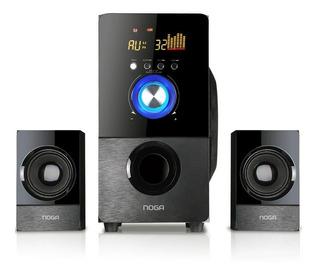 Parlantes 2.1 Bluetooth Noga Dubai Sd Usb Inalambrico Cuotas