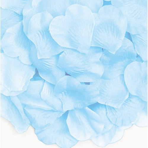 Imagem 1 de 1 de Kit De Pétalas Artificiais Azul Bebê - 1000 Pétalas