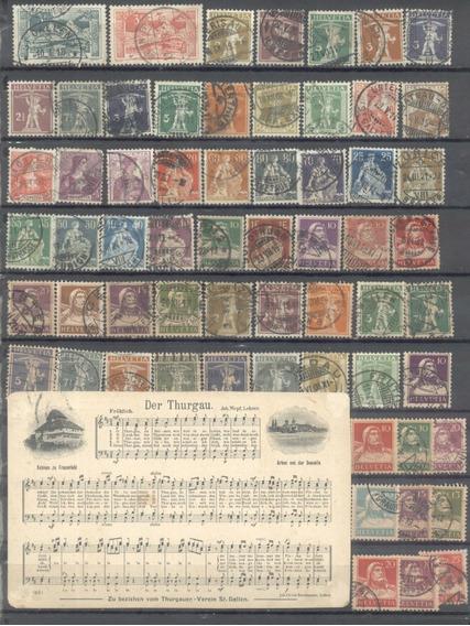 Suiza - Lote De Estampillas (#6010)