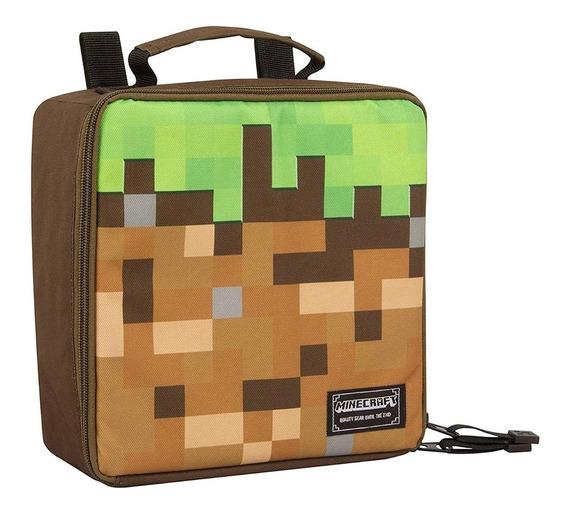 Lonchera Mochila Escolar Minecraft Original Inmediato