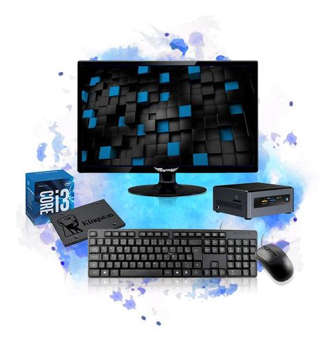 Imagem 1 de 5 de Computador Completo Mini Cpu Nuc Intel Core I3 8gb Ssd 240gb