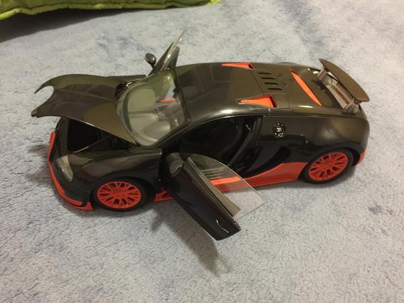 Bugatti Veyron Super Sport, Cor Preto E Laranja, 1:18