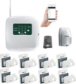 Kit Central De Alarme Gsm Com Aplicativo + 9 Sensores