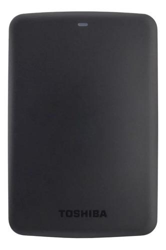 Imagen 1 de 3 de Disco duro externo Toshiba Canvio Basics HDTB310X 1TB negro