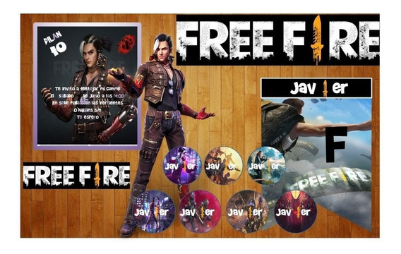 Kit Imprimible Free Fire Editable Invitaciones Deco